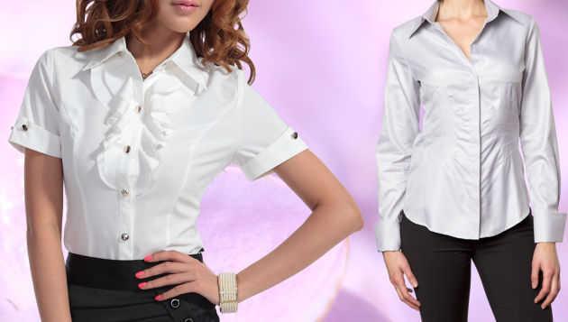 Tu Elegancia Y Para Modernidad Look De Seda Camisa YqtE44